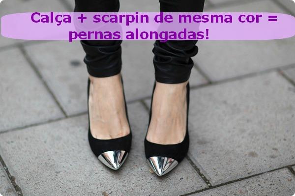 scarpins de bico metalizado3