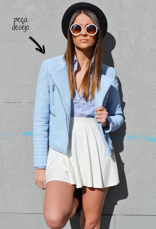 jaqueta azul bebe