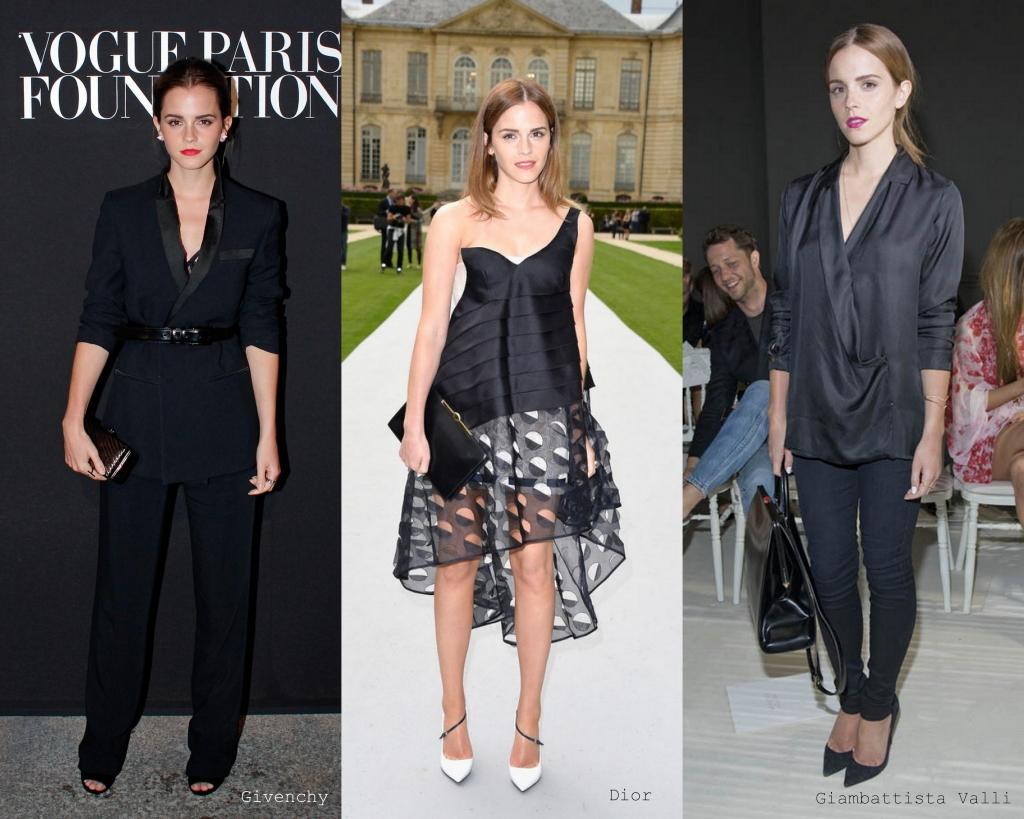 Emma conferiu a nova coleção de Giambattista Valle.
